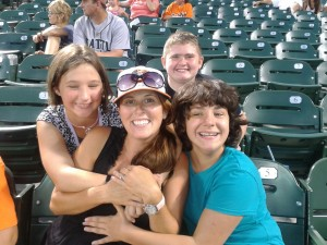 IMAGE staff and Teen Connect participants at an Orioles Game