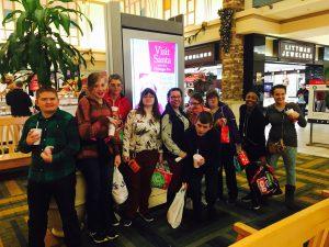 IMAGE Connect Participants at the mall during a holiday shopping event.