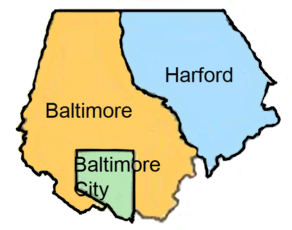 IMAGE area is Baltimore, Baltimore City, and Harford