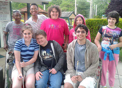 Teens at the zoo, a group portrait