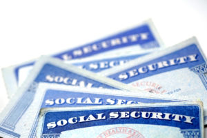 Social Security Cards for identification and retirement USA
