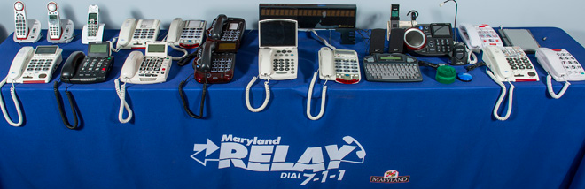 A selection of accessible phones