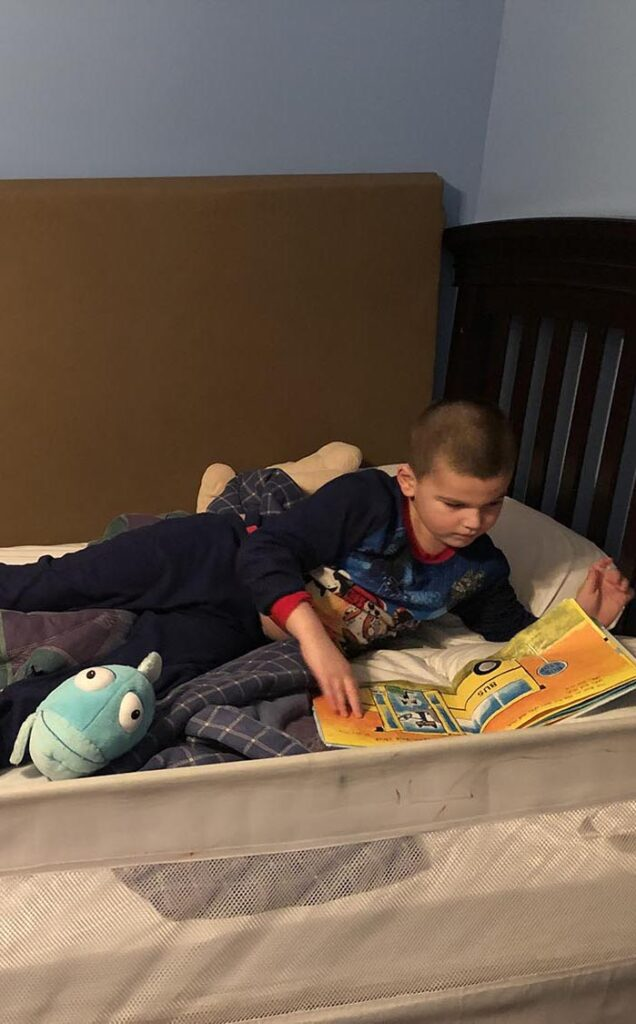 A modified bed for a little boy